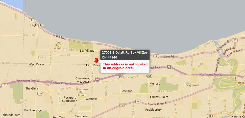 USDA Loan Eligiblity Maps From - Bay Village, OH