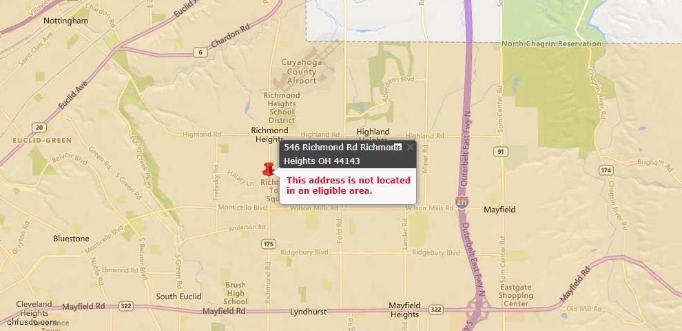 USDA Loan Eligiblity Maps From - 44143, OH