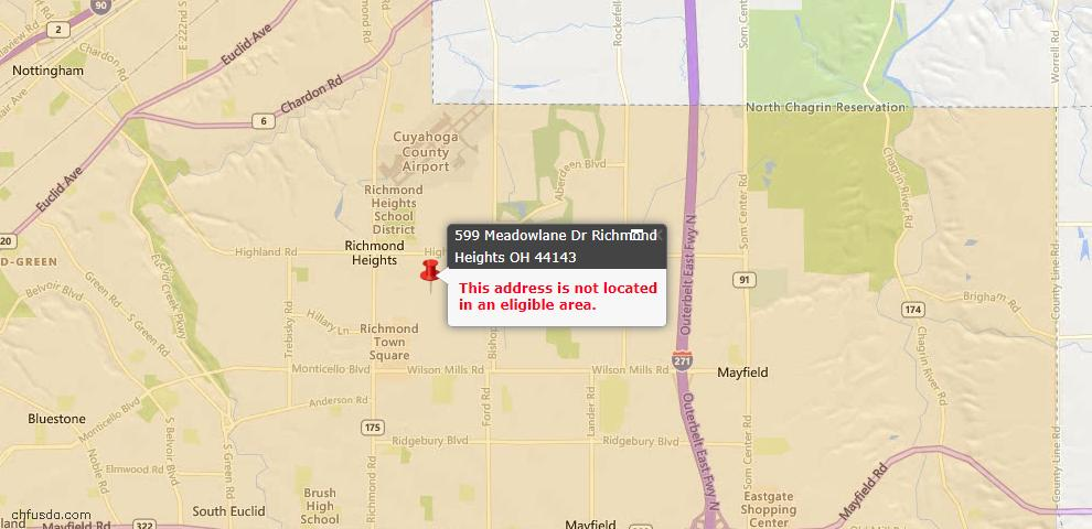 USDA Loan Eligiblity Maps From - Richmond Heights, OH