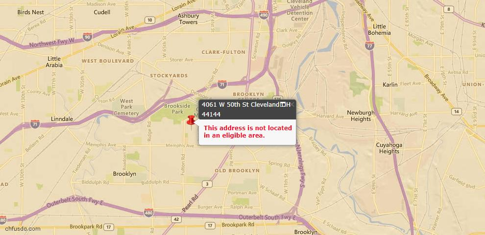 USDA Loan Eligiblity Maps From - 44144, OH