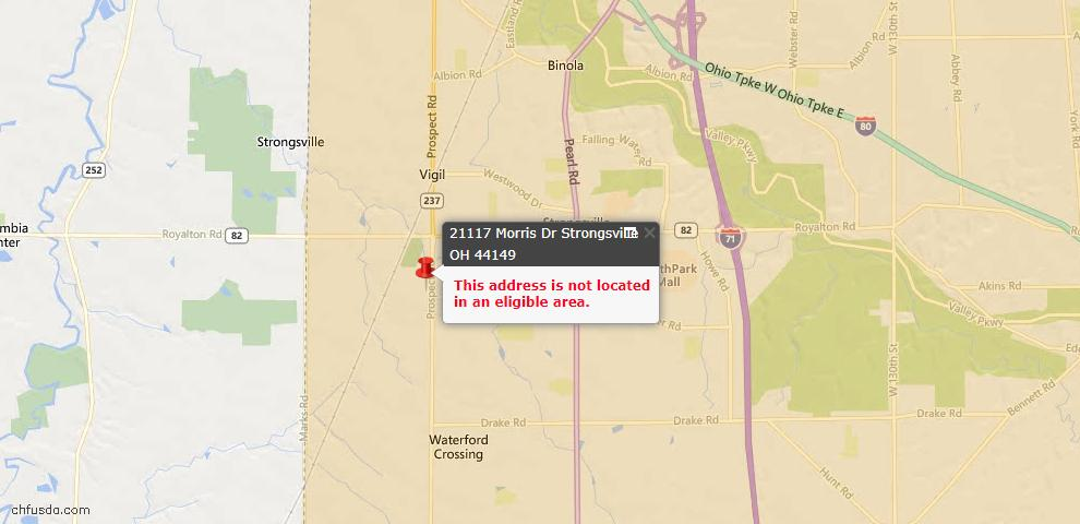 USDA Loan Eligiblity Map - 21117 Morris Rd, Strongsville, OH 44149