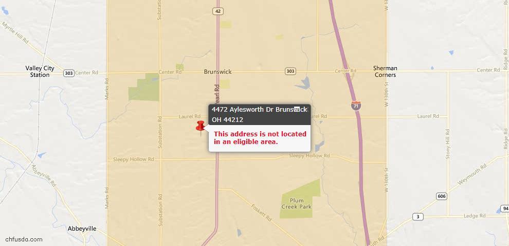 USDA Loan Eligiblity Maps From - Brunswick, OH