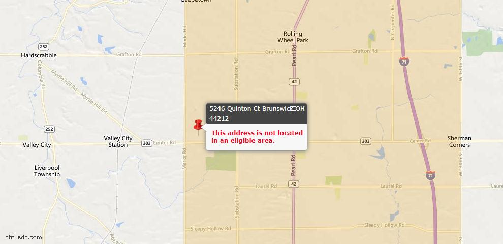 USDA Loan Eligiblity Maps From - Brunswick Hills, OH