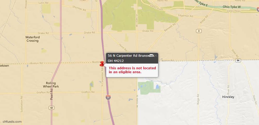 USDA Loan Eligiblity Maps From - Medina County, OH