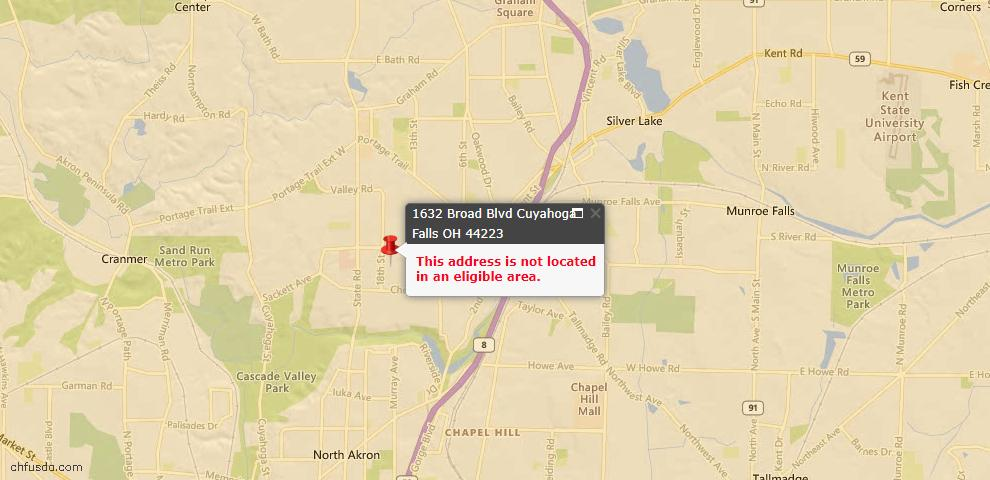 USDA Loan Eligiblity Maps From - 44223, OH