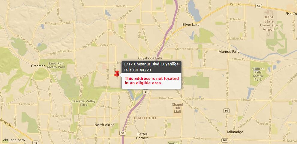 USDA Loan Eligiblity Maps From - Cuyahoga Falls, OH