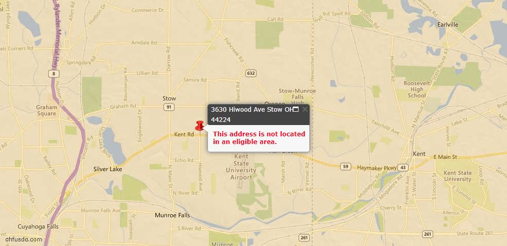 USDA Loan Eligiblity Maps From - Stow, OH