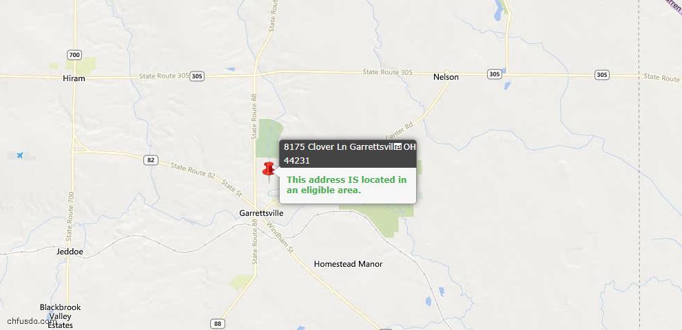 USDA Loan Eligiblity Maps From - Garrettsville, OH