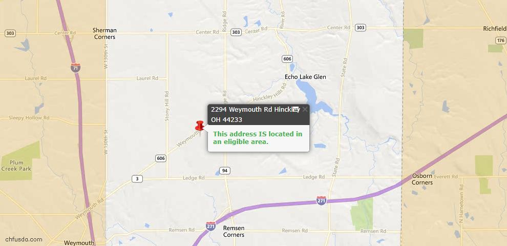 USDA Loan Eligiblity Maps From - Hinckley, OH