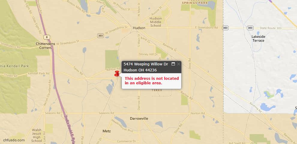 USDA Loan Eligiblity Maps From - 44236, OH