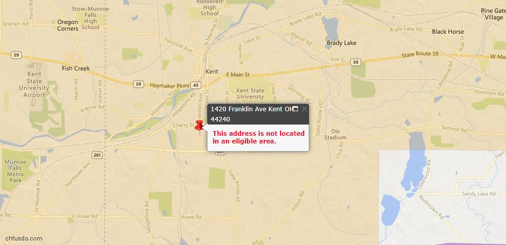 USDA Loan Eligiblity Maps From - Kent, OH