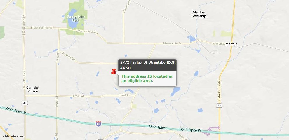 USDA Loan Eligiblity Maps From - Streetsboro, OH