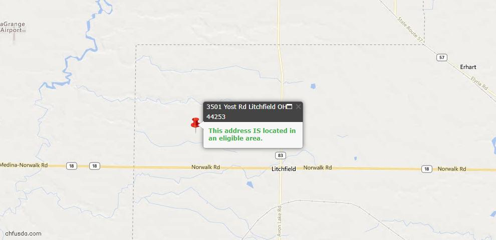 USDA Loan Eligiblity Maps From - Litchfield, OH
