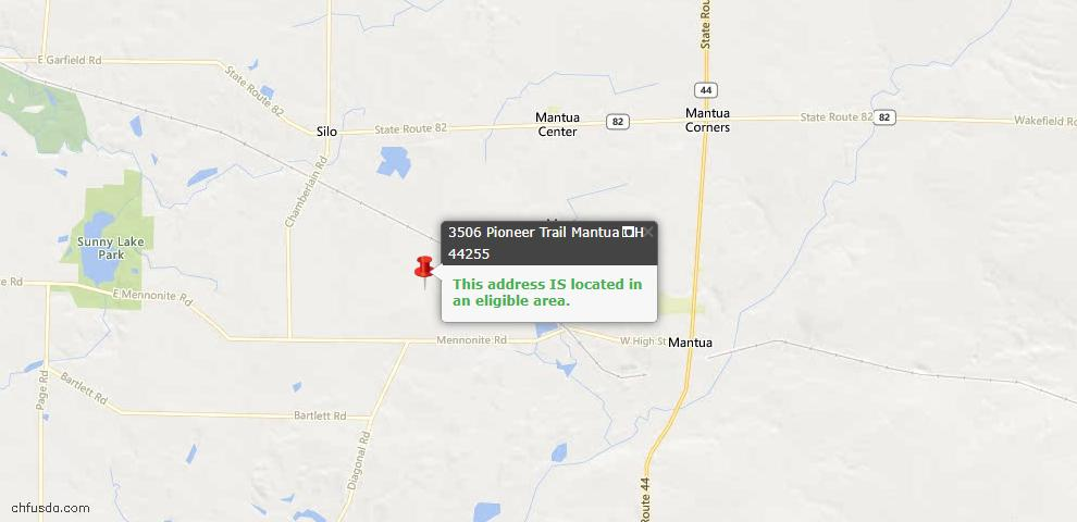 USDA Loan Eligiblity Maps From - Mantua, OH