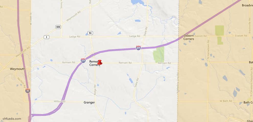 USDA Loan Eligiblity Map - 1474 Remsen Rd, Medina, OH 44256