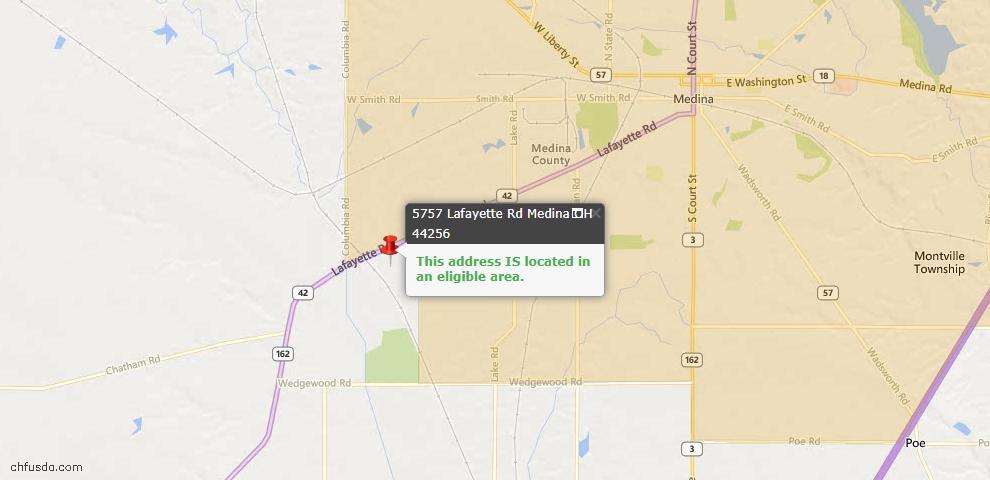 USDA Loan Eligiblity Maps From - Medina, OH