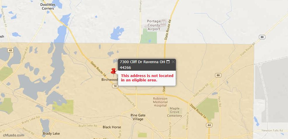 USDA Loan Eligiblity Maps From - 44266, OH
