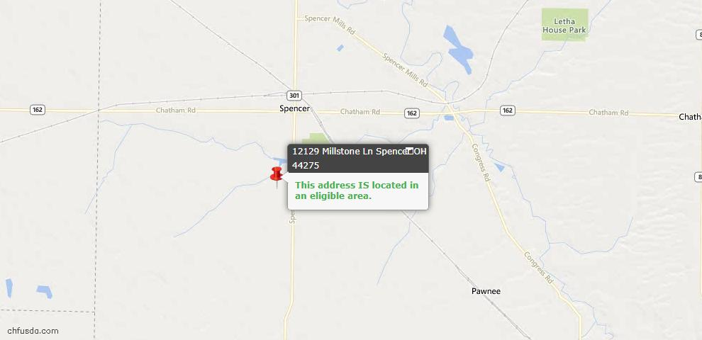 USDA Loan Eligiblity Maps From - Spencer, OH