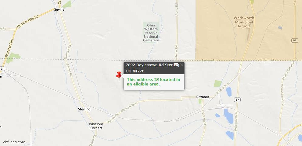 USDA Loan Eligiblity Maps From - Sterling, OH