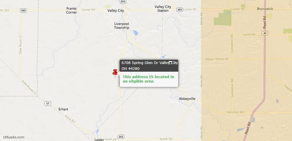 USDA Loan Eligiblity Maps From - Valley City, OH
