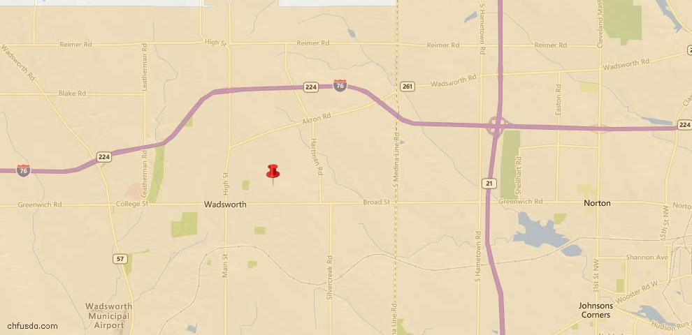 USDA Loan Eligiblity Maps From - Wadsworth, OH