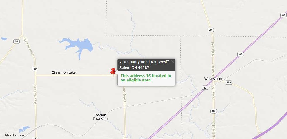 USDA Loan Eligiblity Maps From - West Salem, OH
