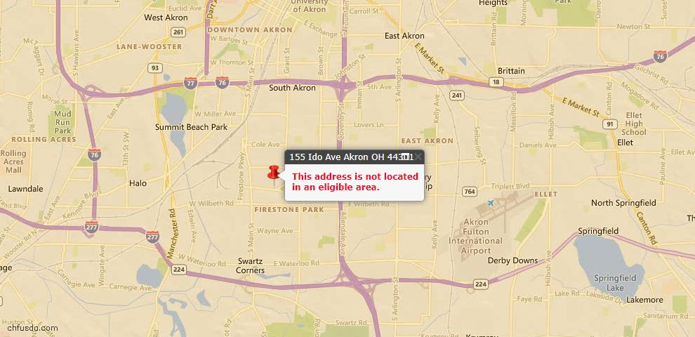 USDA Loan Eligiblity Maps From - 44301, OH