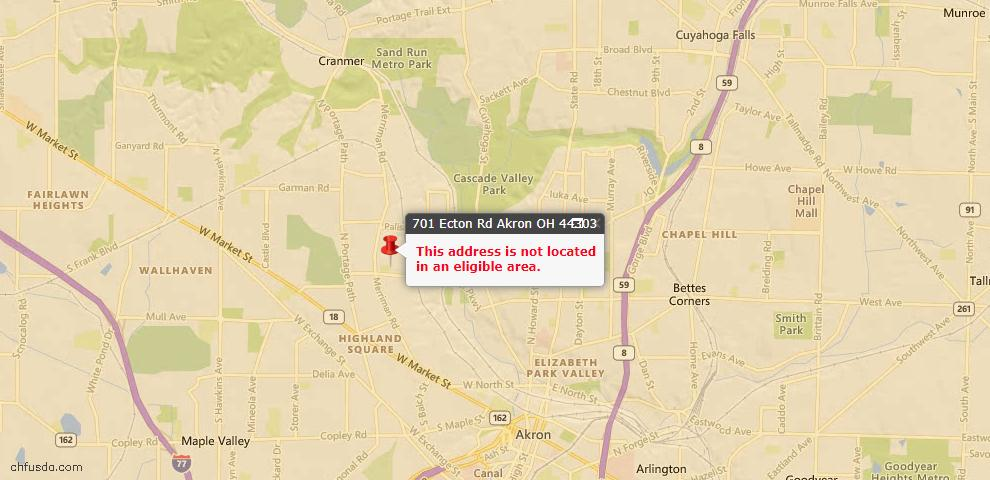 USDA Loan Eligiblity Maps From - Akron, OH