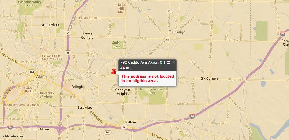 USDA Loan Eligiblity Maps From - Summit County, OH