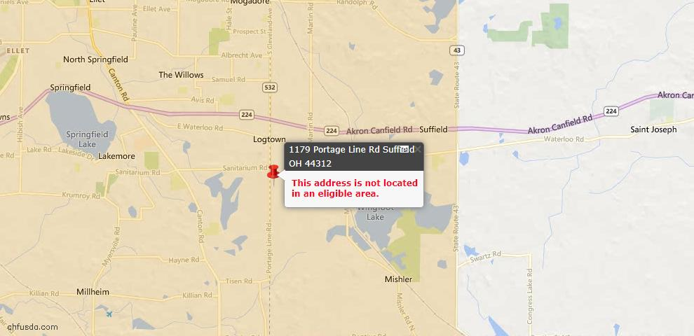 USDA Loan Eligiblity Maps From - Suffield, OH