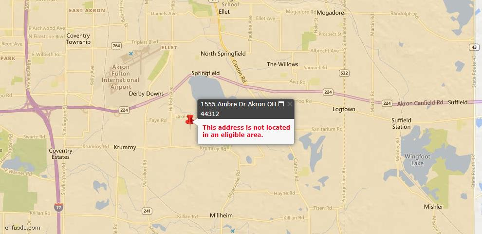 USDA Loan Eligiblity Maps From - 44312, OH
