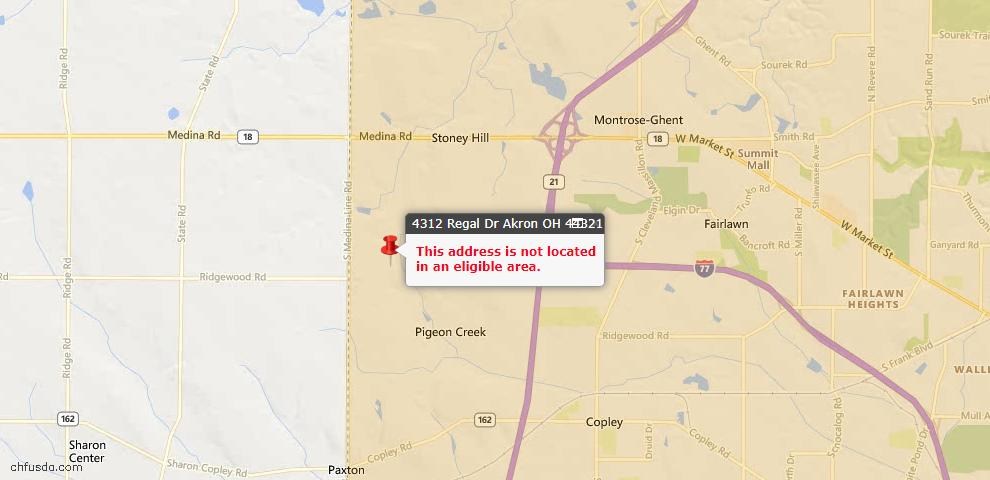 USDA Loan Eligiblity Maps From - 44321, OH