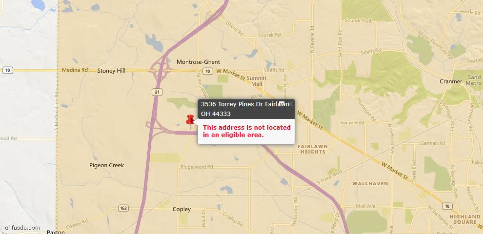 USDA Loan Eligiblity Maps From - Fairlawn, OH