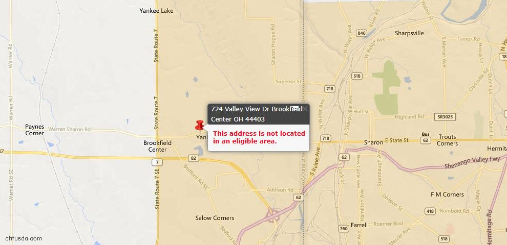 USDA Loan Eligiblity Maps From - Brookfield, OH