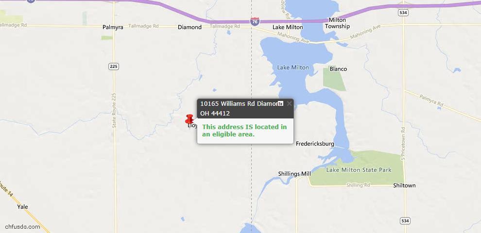 USDA Loan Eligiblity Maps From - Diamond, OH