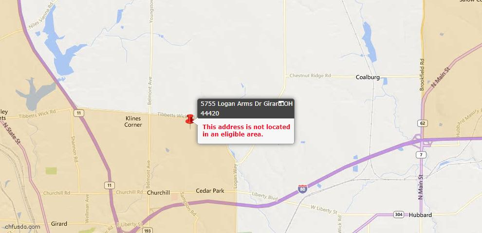 USDA Loan Eligiblity Maps From - Girard, OH