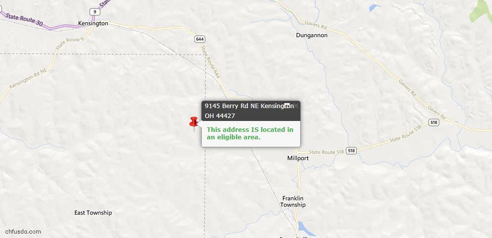 USDA Loan Eligiblity Maps From - Kensington, OH