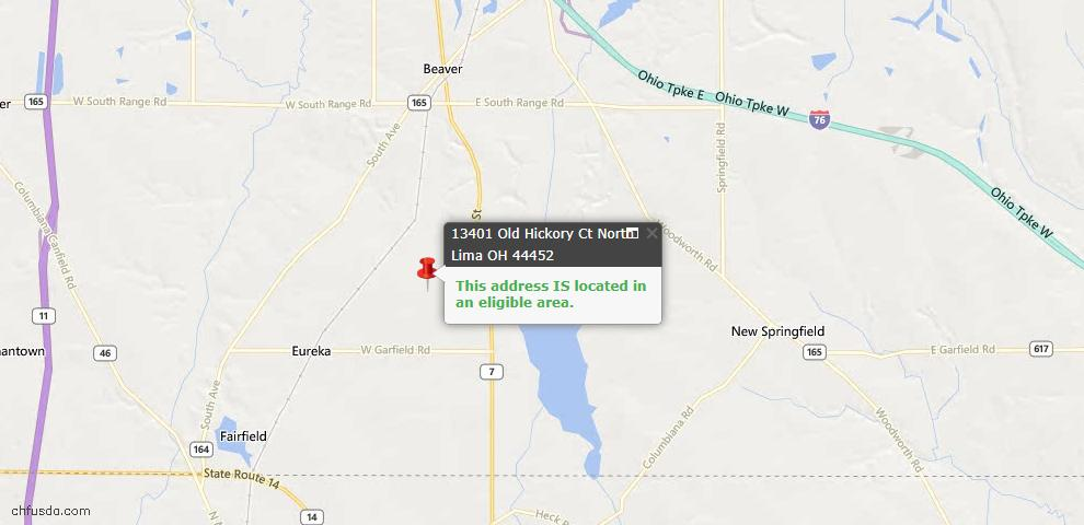 USDA Loan Eligiblity Maps From - North Lima, OH
