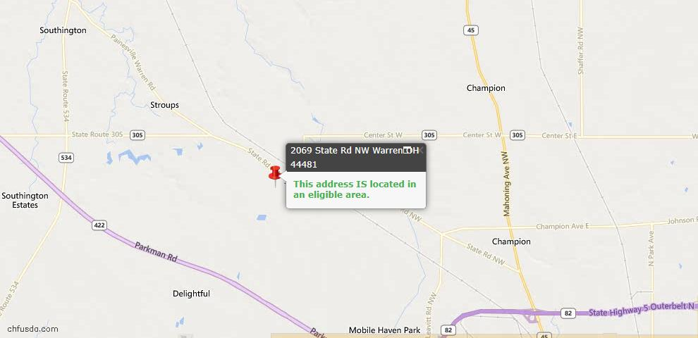 USDA Loan Eligiblity Maps From - Trumbull County, OH