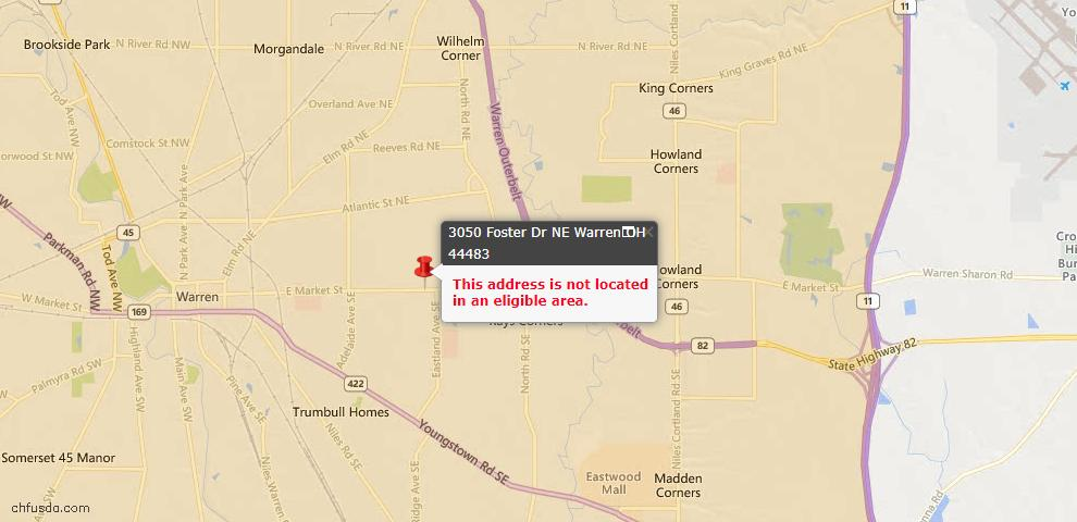 USDA Loan Eligiblity Maps From - Warren, OH