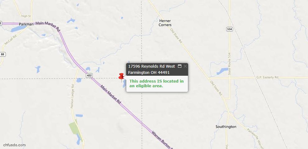 USDA Loan Eligiblity Maps From - West Farmington, OH