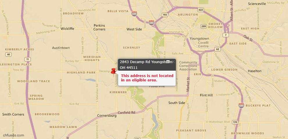 USDA Loan Eligiblity Maps From - Youngstown, OH