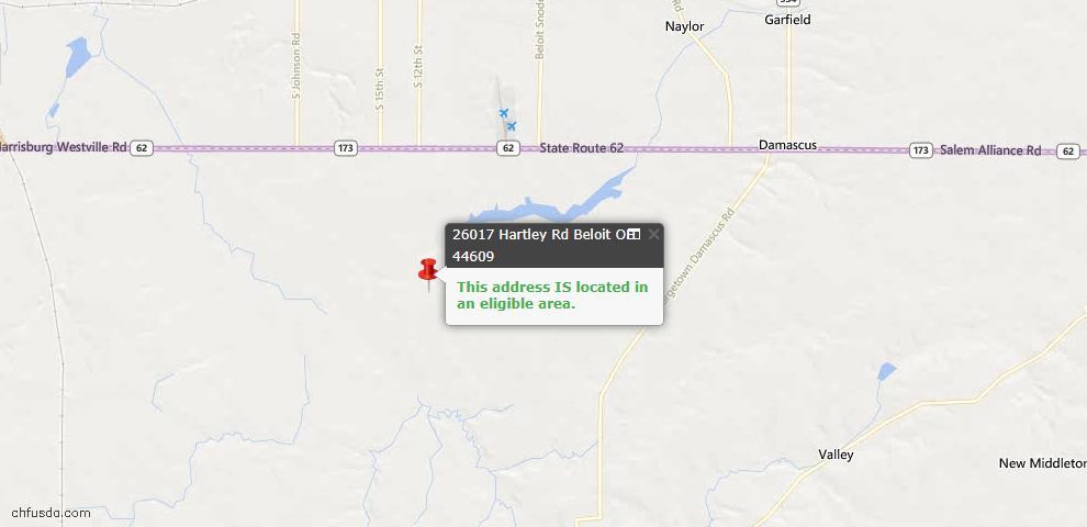 USDA Loan Eligiblity Maps From - Beloit, OH