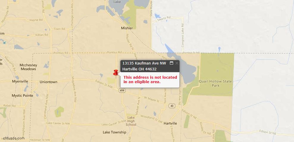 USDA Loan Eligiblity Maps From - 44632, OH