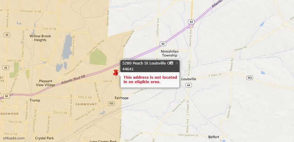 USDA Loan Eligiblity Maps From - Louisville, OH