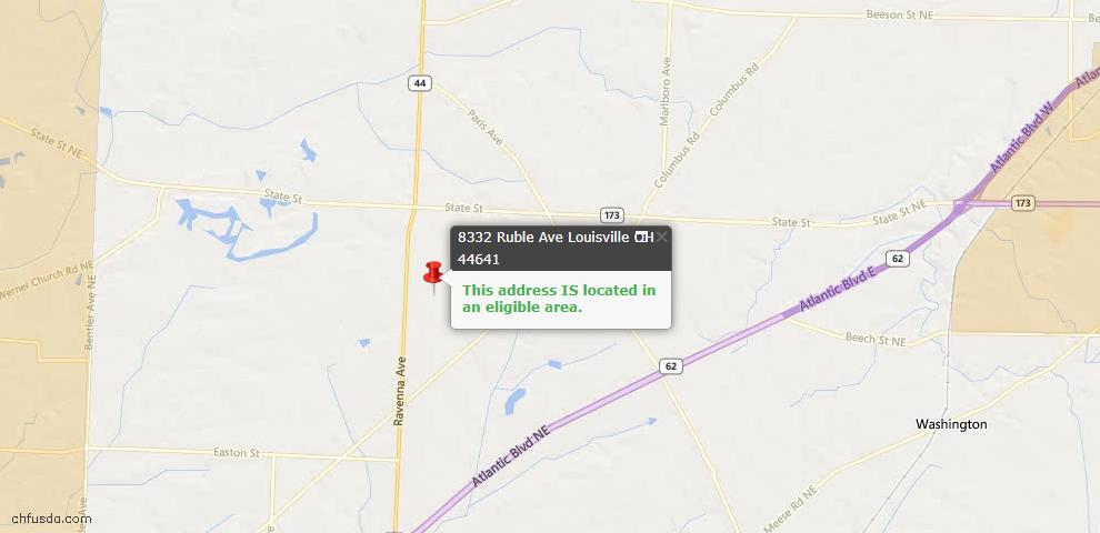 USDA Loan Eligiblity Maps From - Stark County, OH