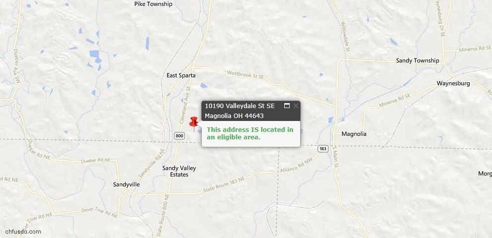 USDA Loan Eligiblity Maps From - Magnolia, OH