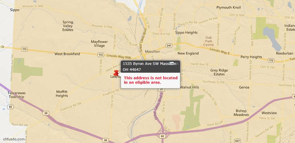 USDA Loan Eligiblity Maps From - 44647, OH