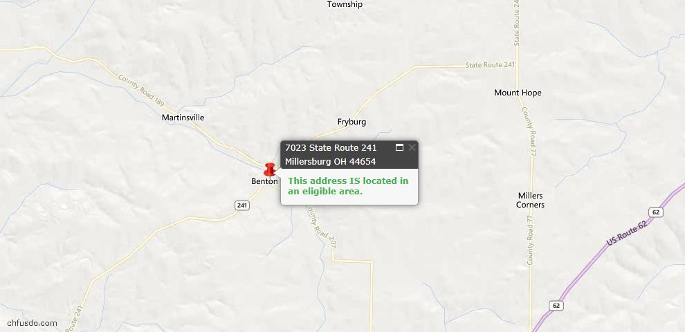 USDA Loan Eligiblity Maps From - Millersburg, OH