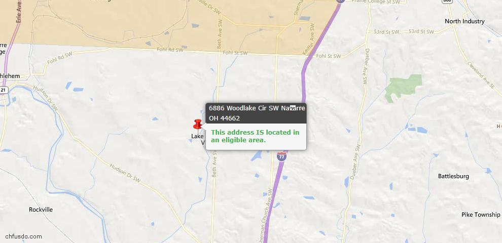 USDA Loan Eligiblity Maps From - Navarre, OH